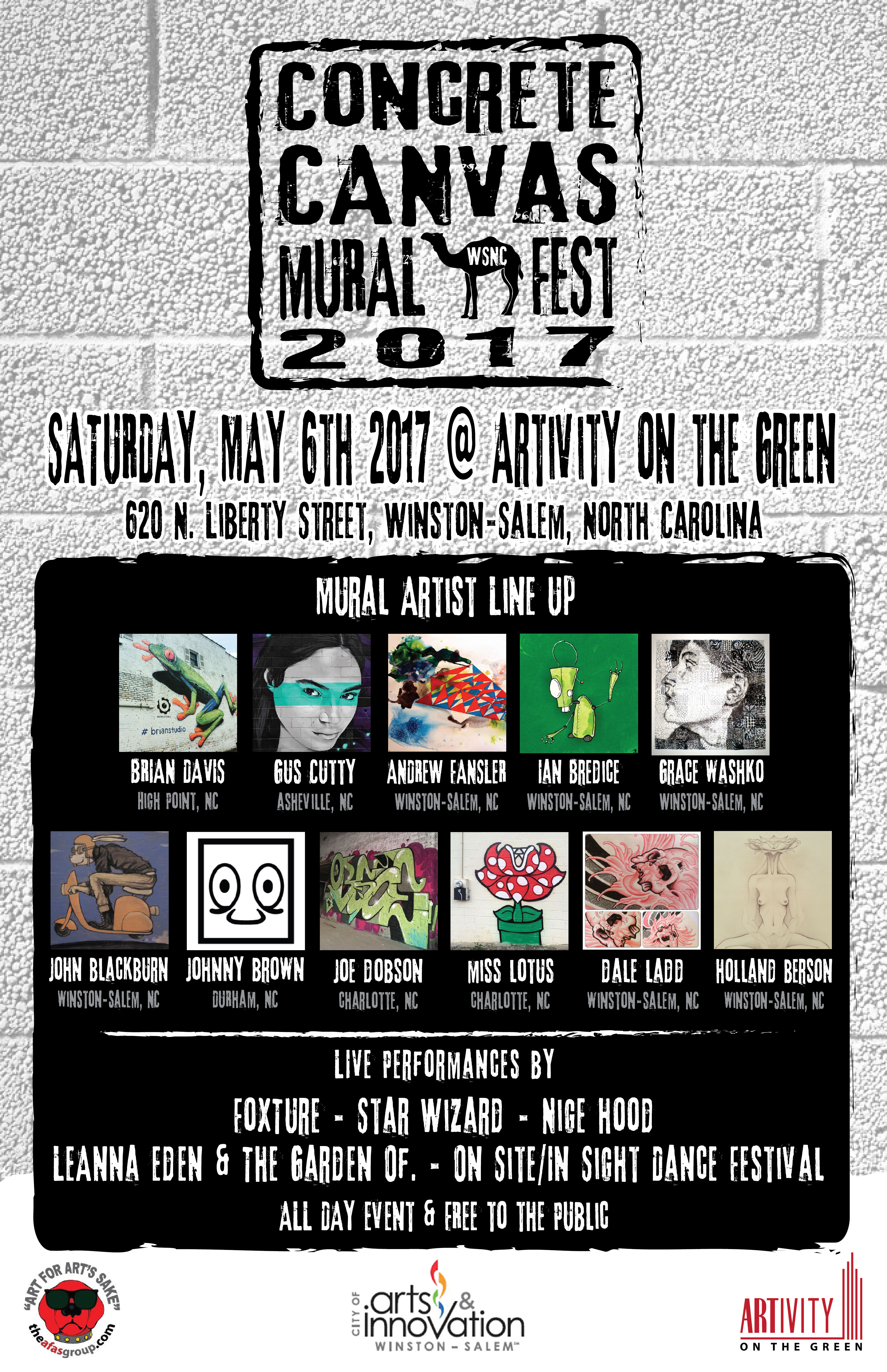 concrete canvas mural fest 2017 at artivity on the green -