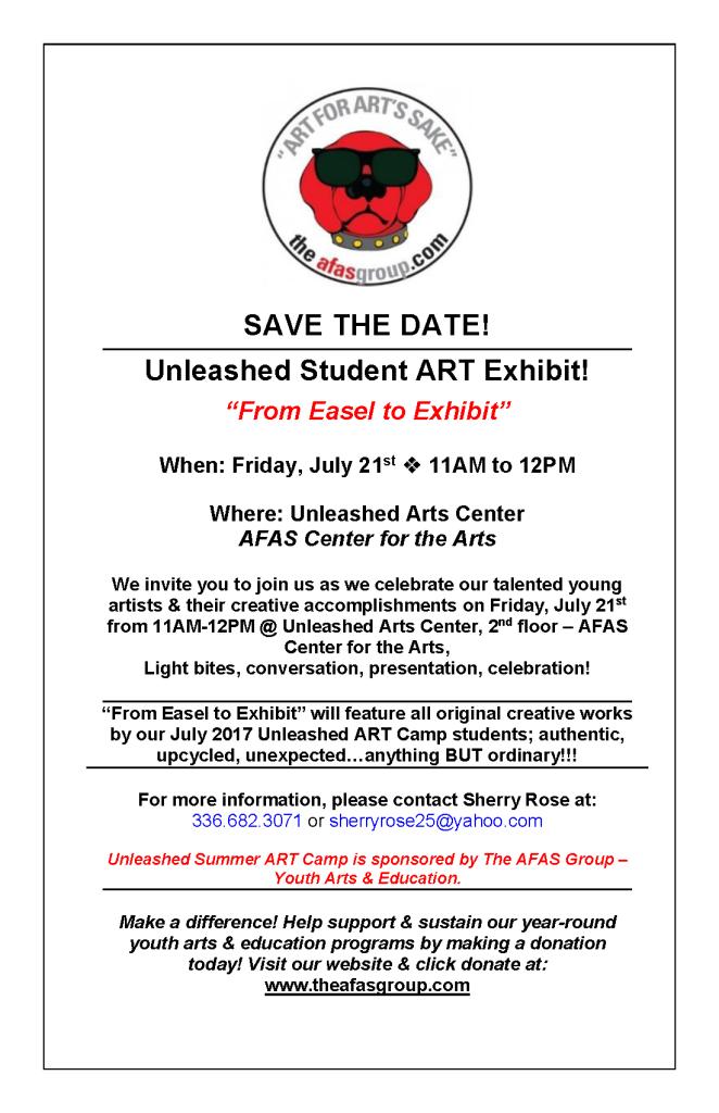 Unleashed Student ART Exhibit