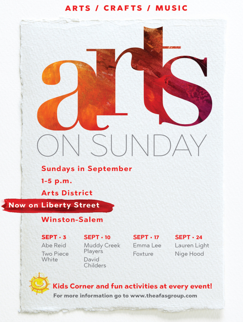 Fall 2017 Arts on Sunday Poster